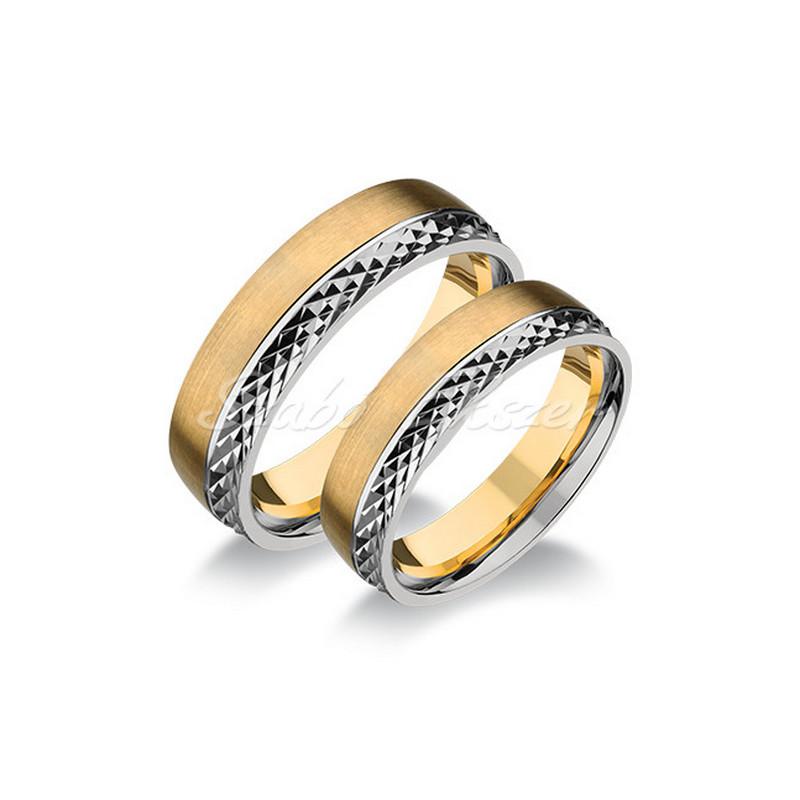 Sárga-fehér arany karikagyűrű